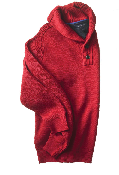 e3f58bcdc56b Tommy Hilfiger  Shawl collars sweaters are a snap for him to dress ...