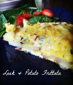 Leek & Potato Frittata. You know its good cause my pal @laradipaola came up with it.