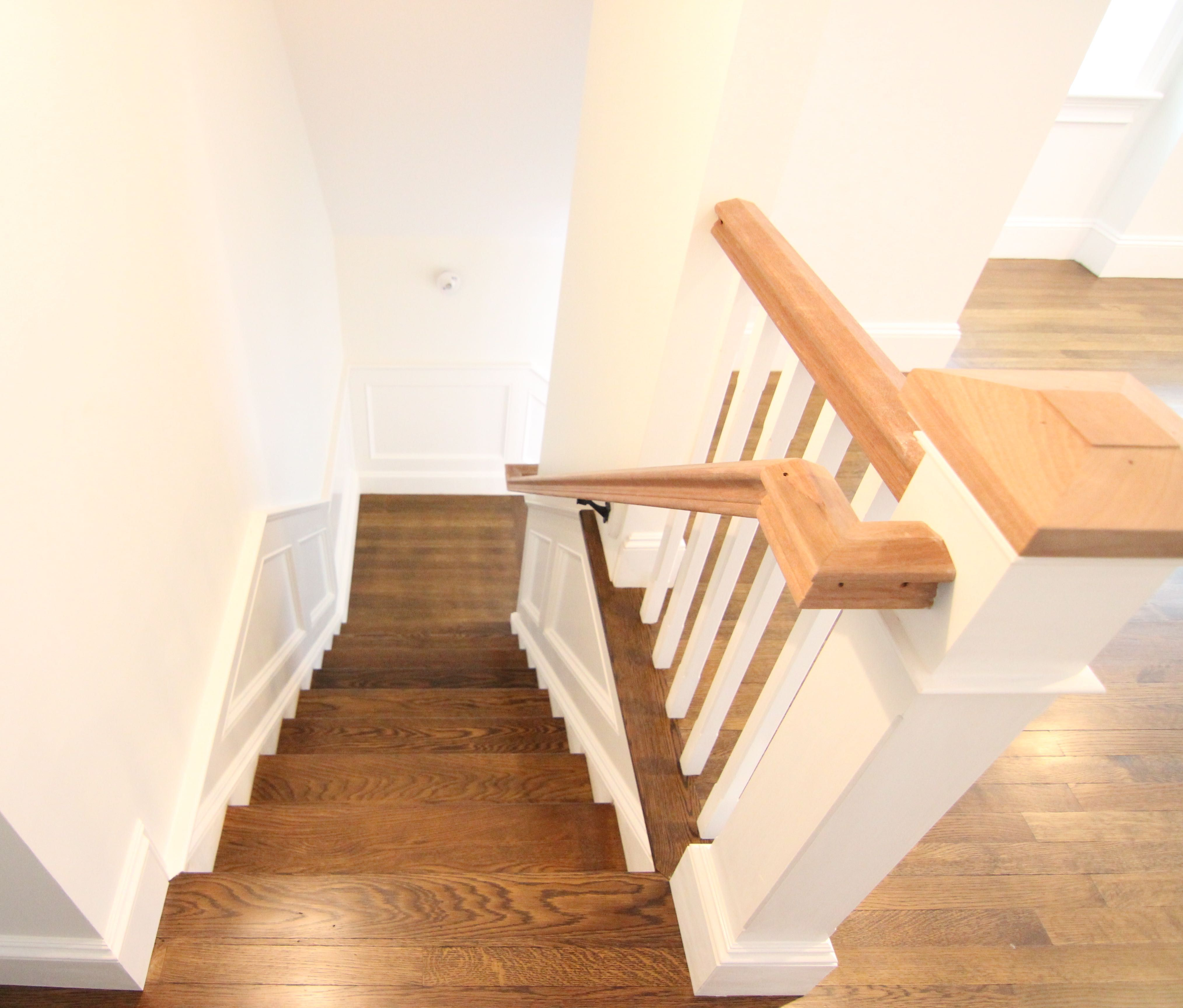 Best White Oak Staircase Stained With Bona Antique Brown Wood 640 x 480