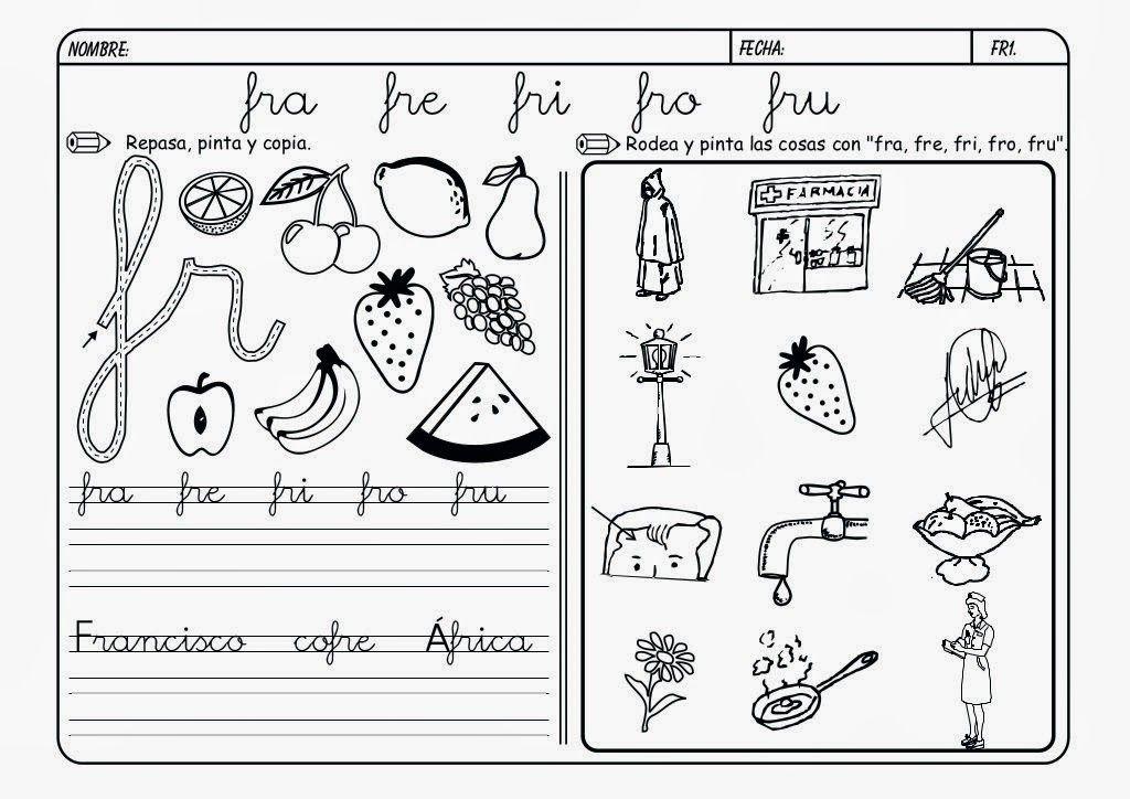Maestra Leyendo Para Colorear: Maestra De Primaria: Fichas De Lectoescritura. Grupos