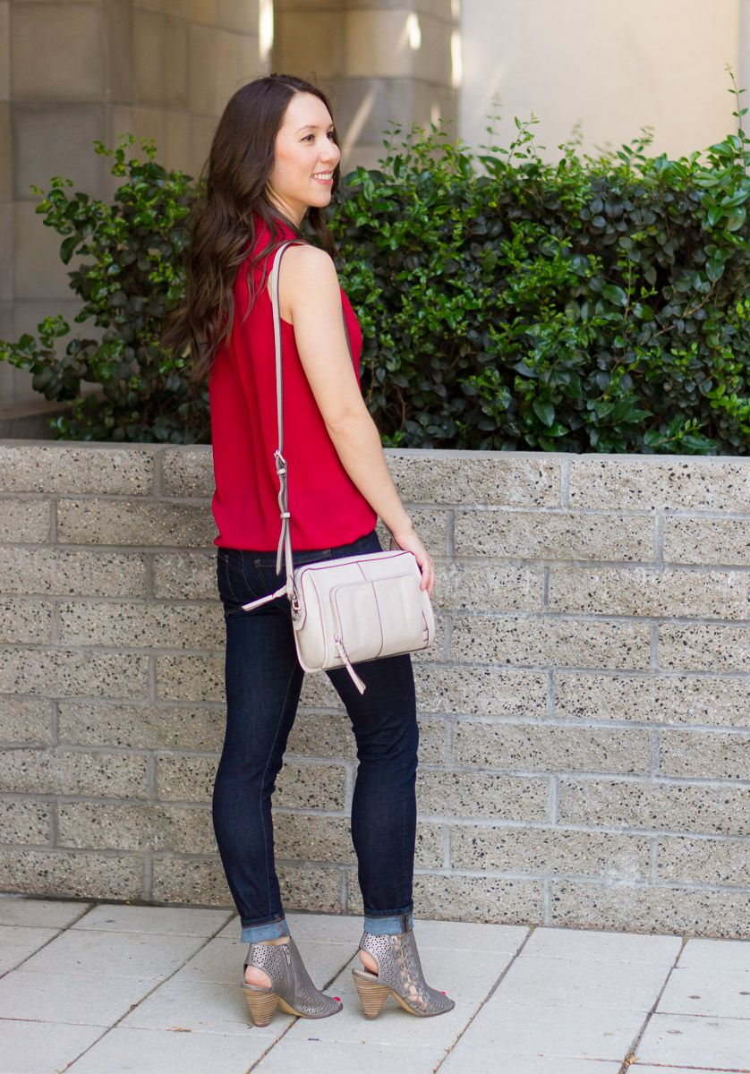 ec25e2372266 Two Summer Vacation Looks for Easy Outfit Ideas with Vince Camuto July 2018  Review of Shoes and Handbags with the Elison Laser Sandal Booties and  Carran ...