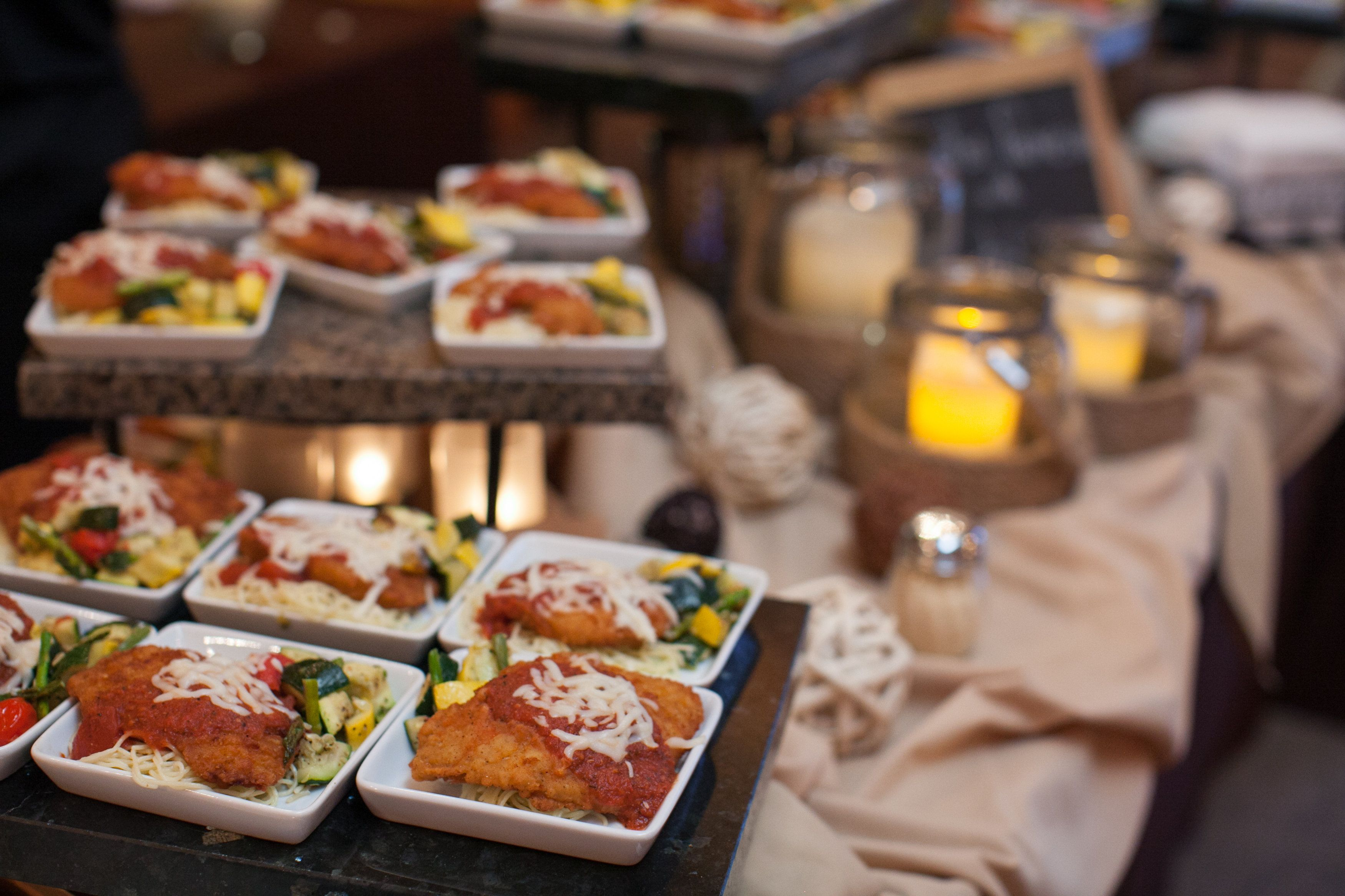 Chicken Parmesan And Roasted Veggie Plate Photo By Abigail Malone Wedding Weddingfood