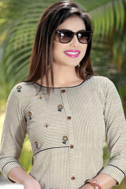 Bulk Simple Office Wear Embroidery Work Cotton Straight Kurtis Bunch Simple Kurti Designs Office Wear Women Long Kurti Designs