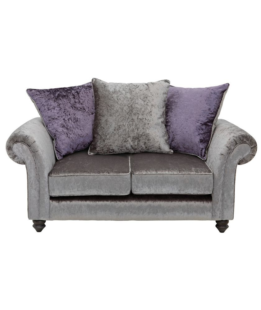 Chesterfield Sofa Buy Manhattan Seater Sofa Scatter Back Sofa Charcoal at Argos co uk
