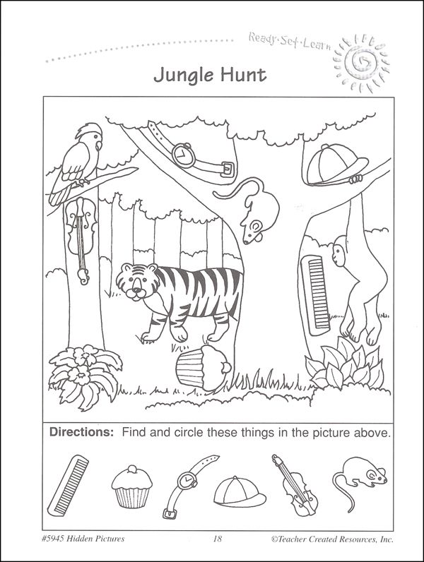 Hidden Picture Math Worksheets 3 – Hidden Objects Worksheets