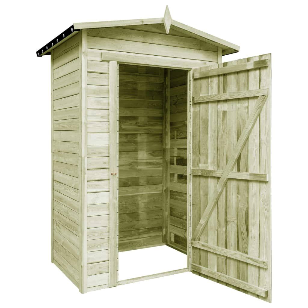 vidaXL Garden Storage Shed Impregnated Pinewood 43327