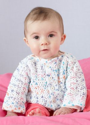 Happy Dots Baby Cardigan. Soft and speckled in lovely baby colors ...