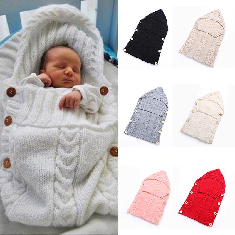 Toddler Newborn Baby Blanket Infant Soft Swaddle Knit Crochet Wrap ...