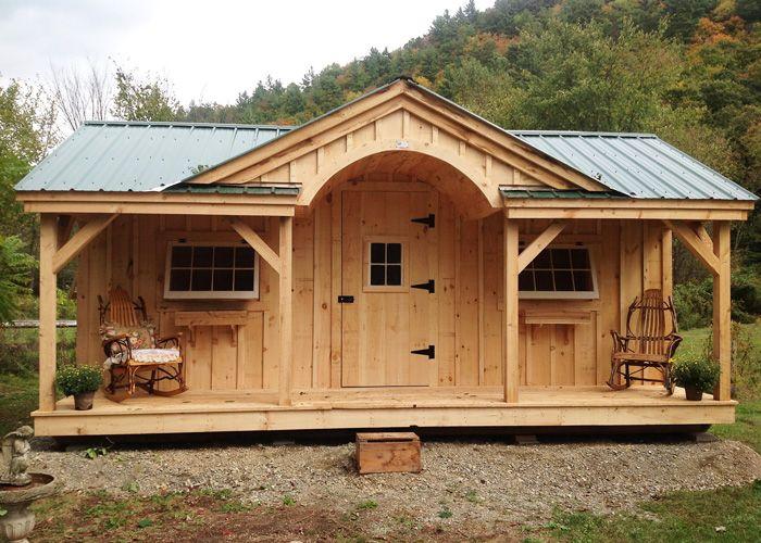12 X 20 Gibraltar Cabin Optional Cedar Flower Boxes Available