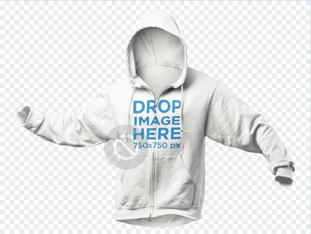 Download Placeit Invisible Model Hoodie Mockup Over A Null Background Clothing Mockup Hoodie Mockup Png