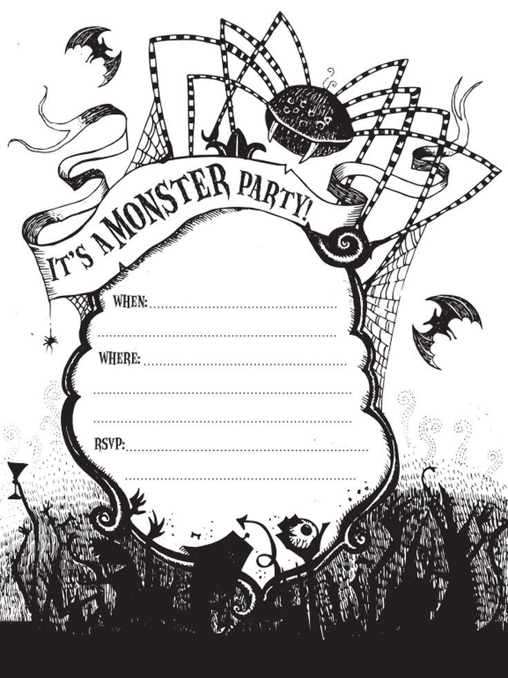 17 Free Halloween Invitations You Can Print From Home Free Halloween Invitations Halloween Party Invitation Template Printable Halloween Party Invitations