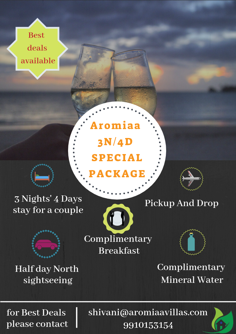 Aromiaa Villas Goa 3n 4d Special Package To