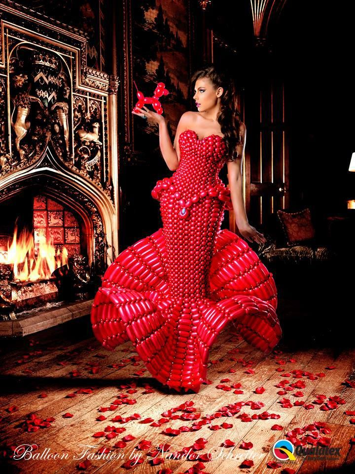 7bcb55d98 Robe Red Balloon, Balloon Ideas, Balloon Decorations, Halloween  Decorations, Nice Dresses,