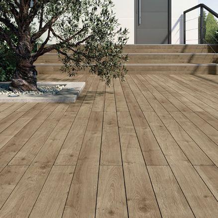 Suelo de madera pino 9 5x205 cm 16 44 m2 jardines for Suelos de madera para jardin