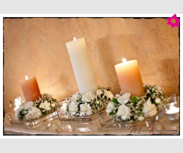 Świece na weselu