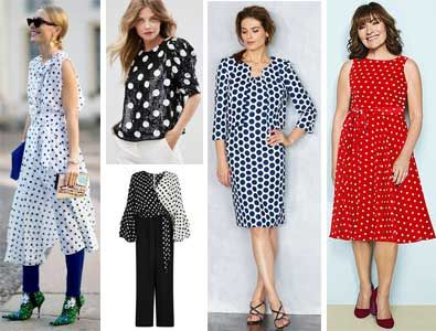 c2bfb117f0 Here are some groovy spot / polka dot dresses and things for women over 40  50 60 70. Click to read about trends.