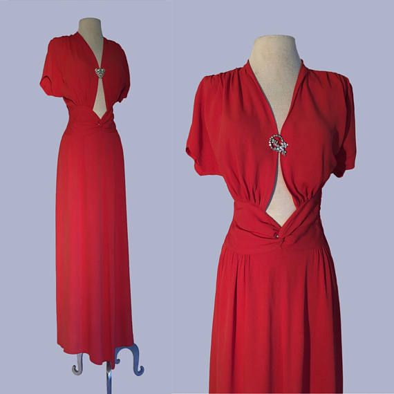 1940s Incredible Movie Star evening gown by designer Eleanor Green ...