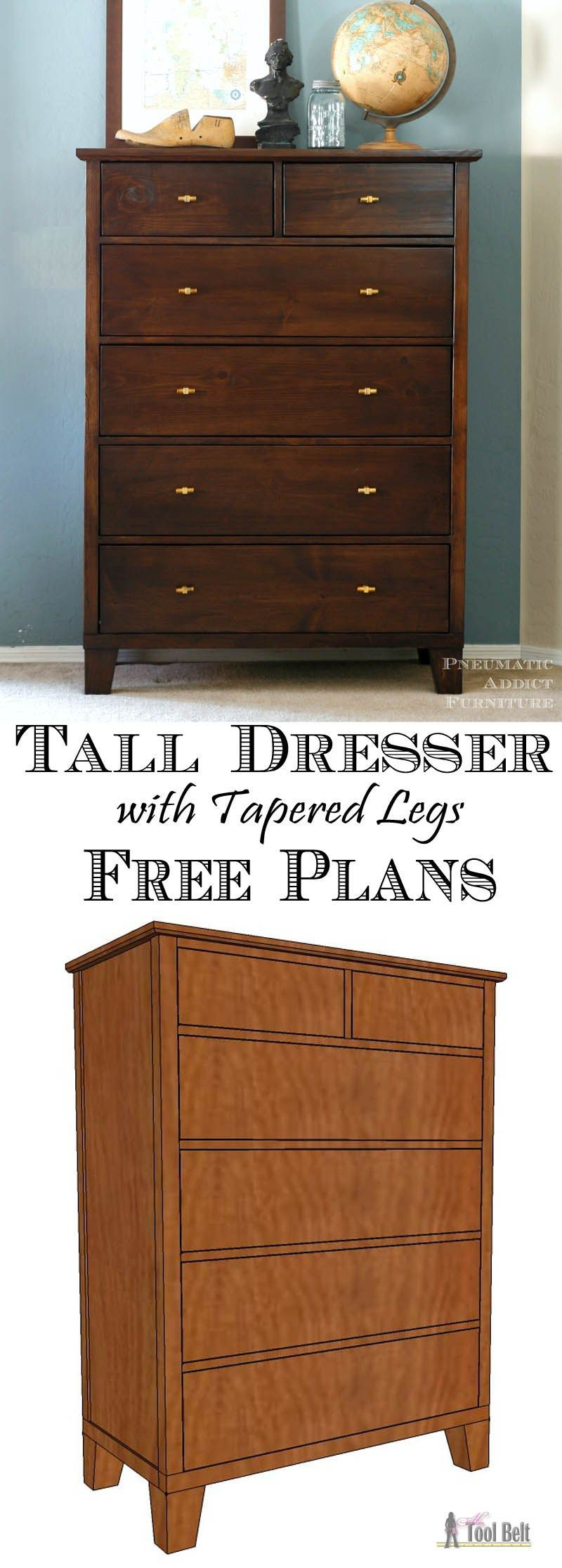 Tall Chest Of Drawers Plans Furniture Plans Woodworking Projects That Sell Diy Home Furniture How To Plan