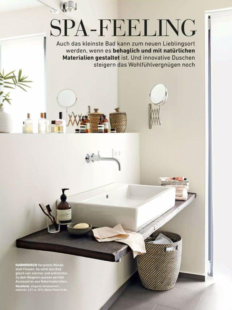Verputzt Statt Fliesen In 2020 Badezimmer Verputzen Badezimmer Fliesen Verputzen