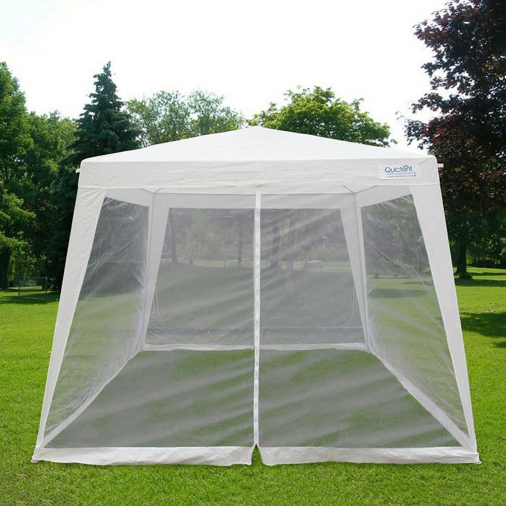 Quictent 10x10 Trapezoid Canopy Party Tent Gazebo Screen House Mesh Side Wall 6955185723067 Ebay Outdoor Canopy Gazebo Gazebo Screen House