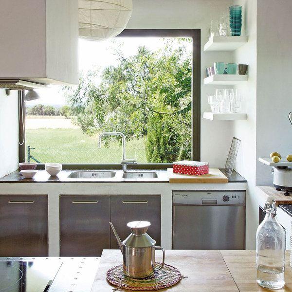 Las cocinas con las mejores vistas: fregaderos delante de la ventana