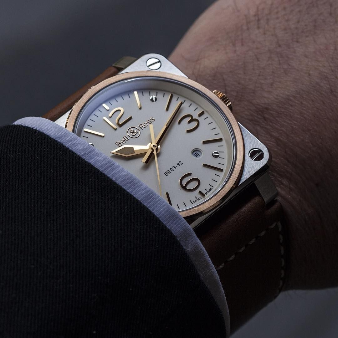 Ksk Luxury Connoisseur What About This Wristshot Of The New Br 03 92 Steel Rose Gold Luxury Watches For Men Bell Ross Watches Unique