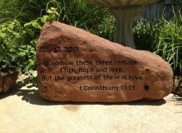 Home and Garden Gallery - Custom Engraved Stone and Rock - Next In Stone