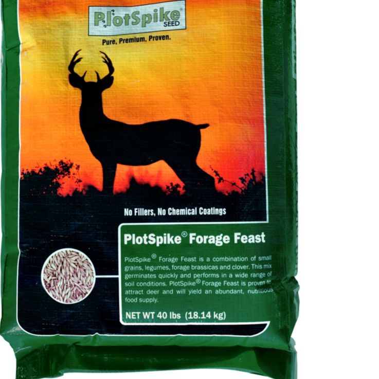 Plotspike forage feast food plot seed 40 lb tractor