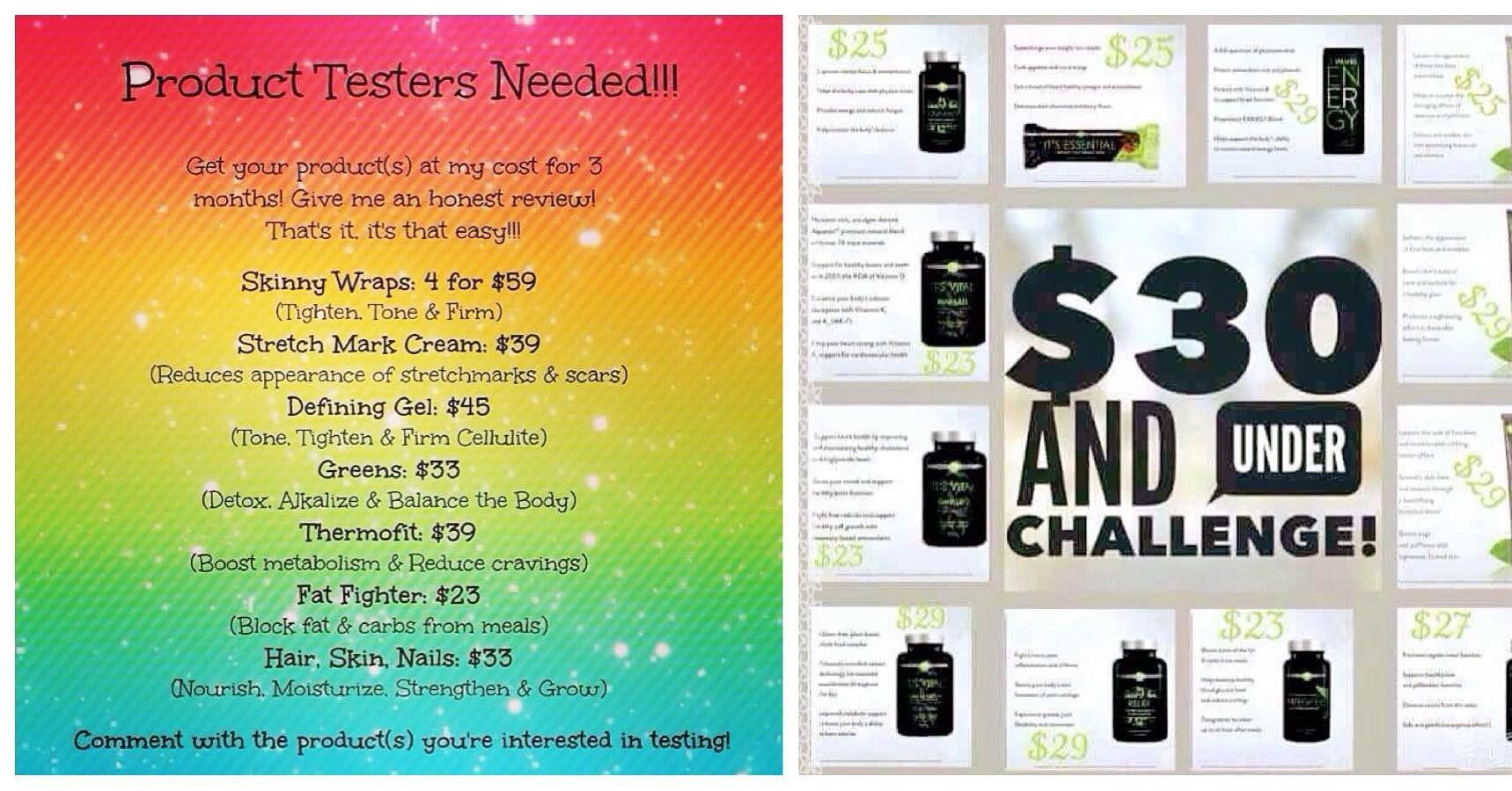 Looking for 3️⃣ product testers who'd like to help build my portfolio!! Pick your product, do a 90 day challenge at my distributor price and give me your honest review. No commitment after those 90 days‼️ Ask me how! Message me or text 623•202•2277