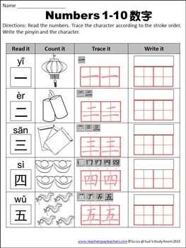 Chinese New Year The Bundle: Mandarin Literacy & Numbers 1