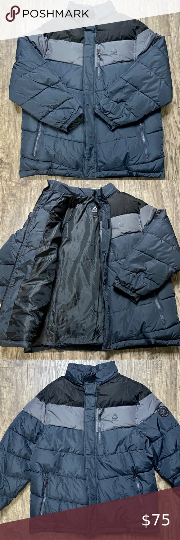 Reebok Slanted Puffer Jacket Color Block Nwot Xxl Fashion Clothes Design Puffer Jackets [ 1740 x 580 Pixel ]