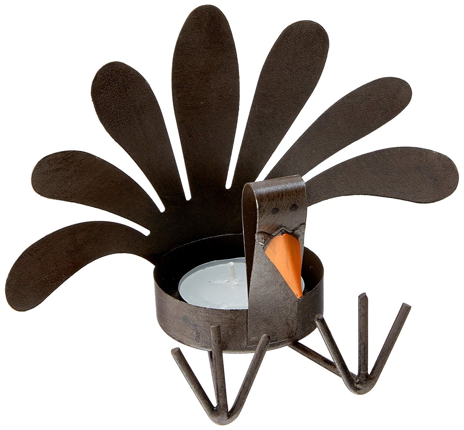 Amazon Mud Pie Thanksgiving Turkey Sitting Tea Light