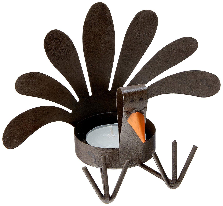 Amazon Mud Pie Thanksgiving Turkey Sitting Tea Light