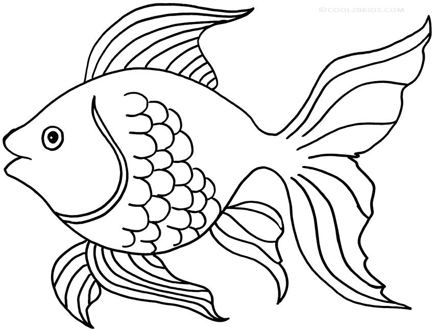 simple fish coloring pages  Google Search  Under the Sea trunk