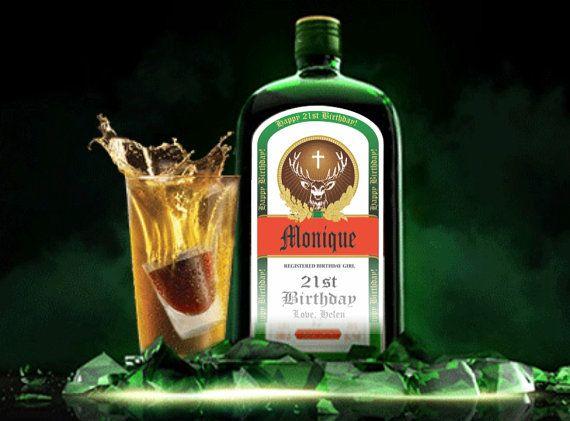 Personalized Jagermeister Labels Liquor Bottle Labels Jagermeister Spirit Drinks