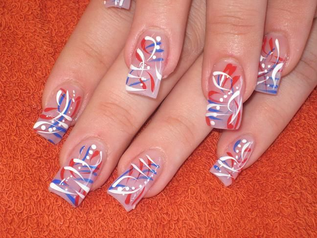 4th Of July 2009 Nail Art Archive Style Nails Magazine July Nails Nail Art Pictures 4th Of July Nails