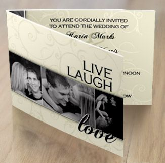 Laugh live dream love wedding invitations