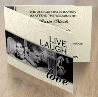 Live Laugh Love Wedding Invitations