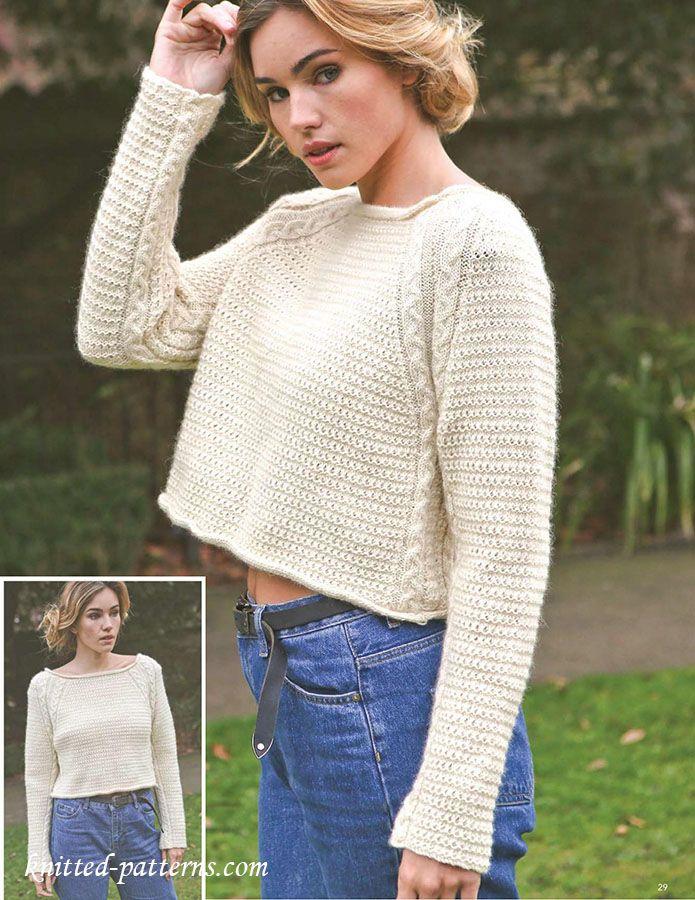 Jumper knitting pattern free | Free knitting patterns | Pinterest ...