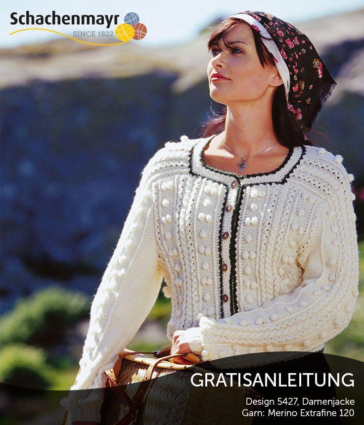 Gratisanleitung: Traditionelle Damenjacke aus Merino Extrafine 120 ...