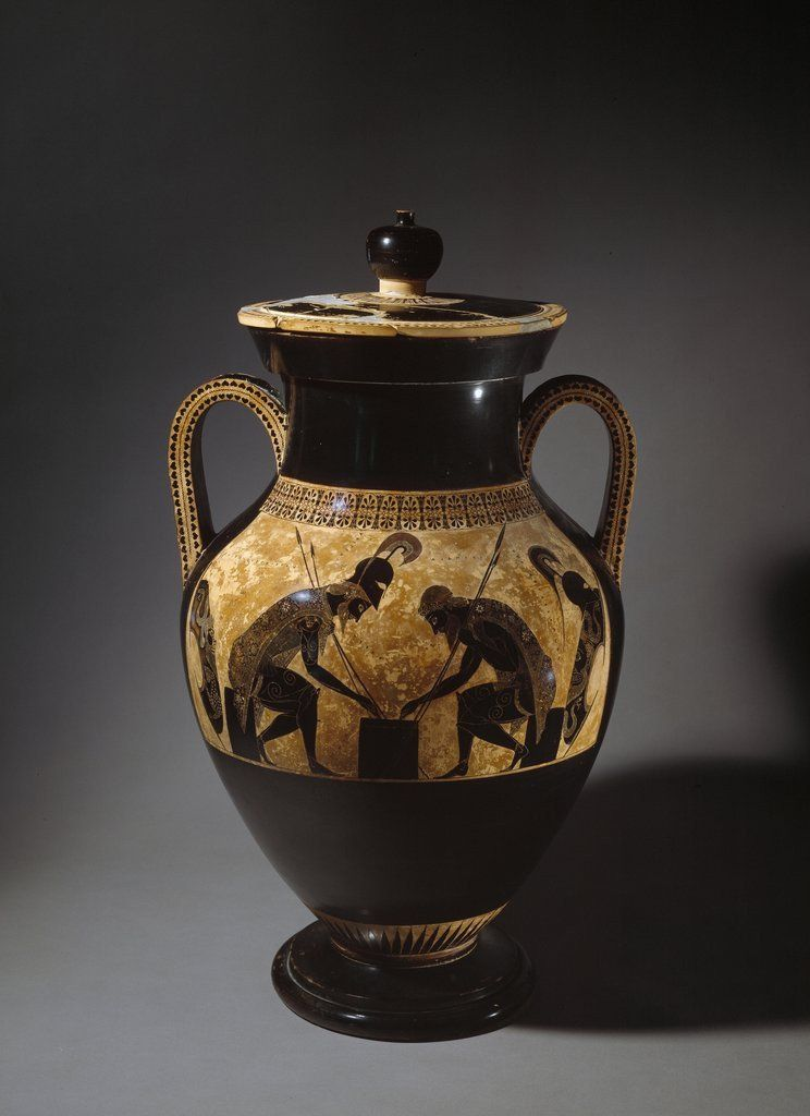 Etruscan Vase Depicting Achilles And Ajax Playing Dice 6thcentury