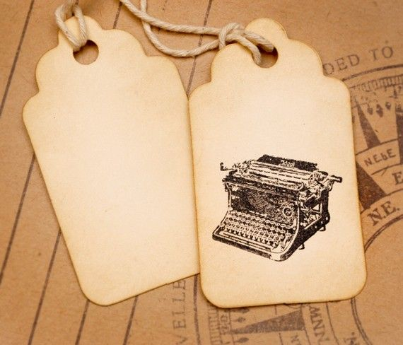 Don't Forget to Write Vintage Typewriter tags by VintageDye