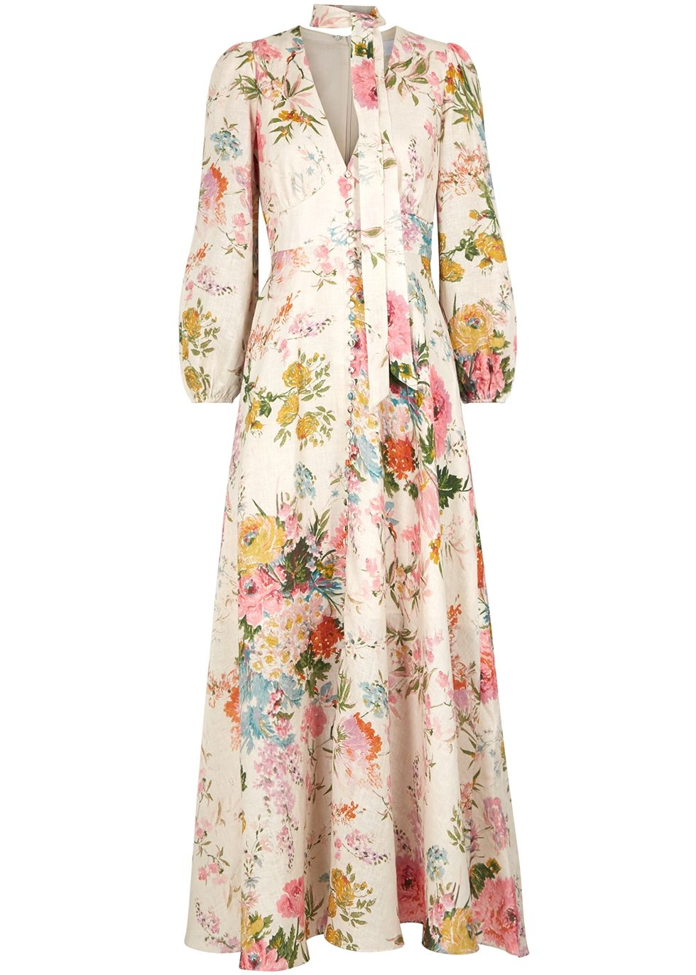 18ea07763 Heathers printed linen maxi dress in 2019 | Things to Wear | Dresses ...