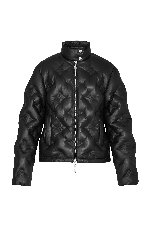 Monogram Flower Leather Down Jacket ReadytoWear