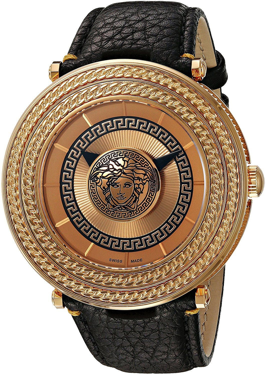 ef19360aad Amazon.com: Versace Men's VQL020015 V-Metal Icon Analog Display ...