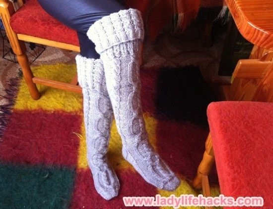 Knitted Slipper Boots Pattern Is Free And Easy Slipper Boots Free