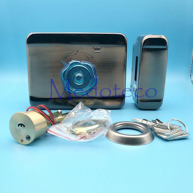 High Quality Mute Electric Rim Lock 12VDC Electronic Lock Access ...