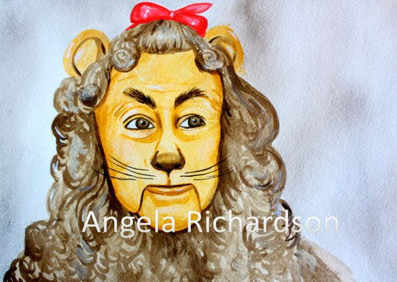 Cowardly Lion Original Painting!