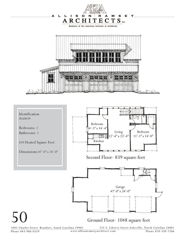 G0039 AllisonRamseyArchitects Garage floor plans