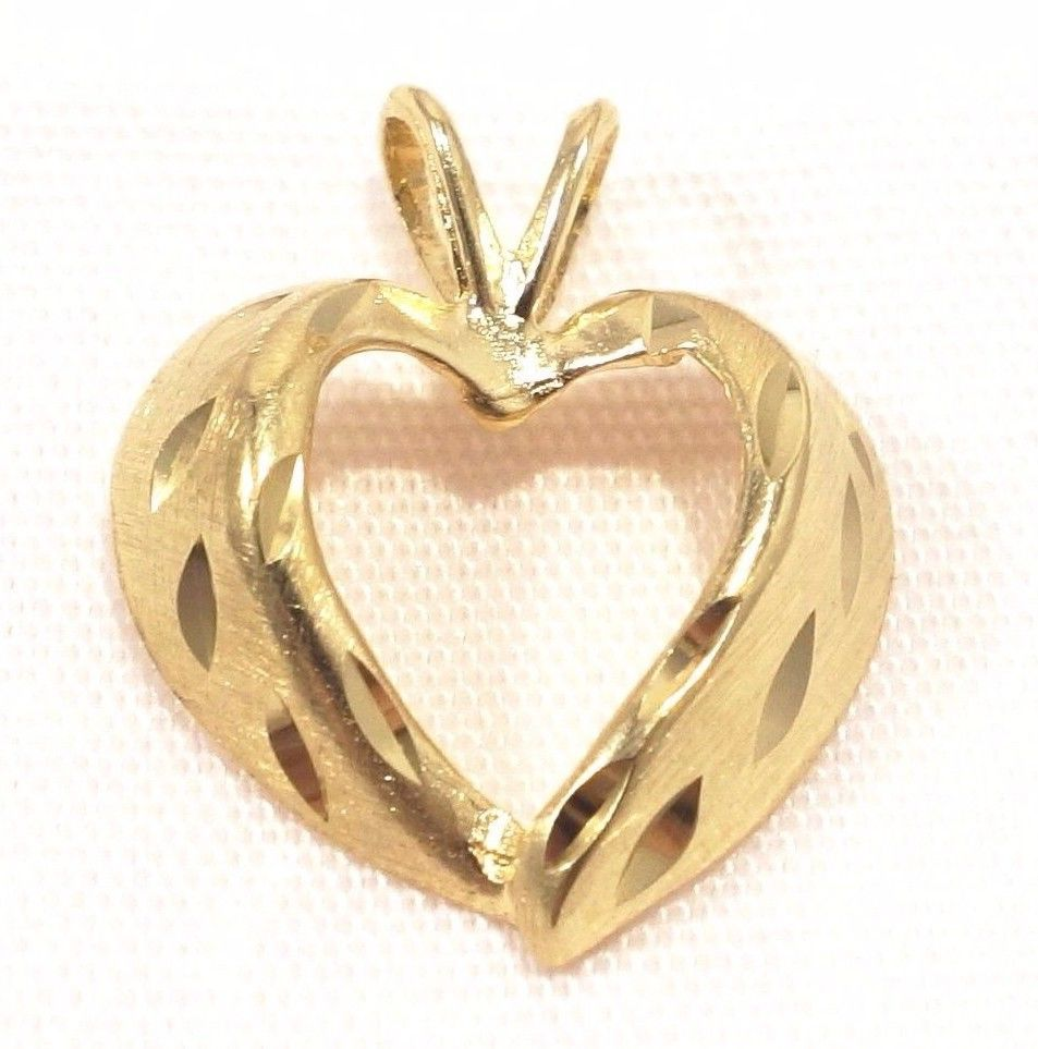 14k solid gold heart pendant simple classic design great texture 14k solid gold heart pendant simple classic design great texture love free ship aloadofball Images